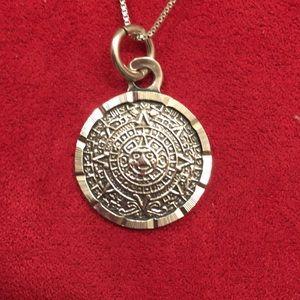 Jewelry - Mayan Calendar Pendant w/Silver Chain